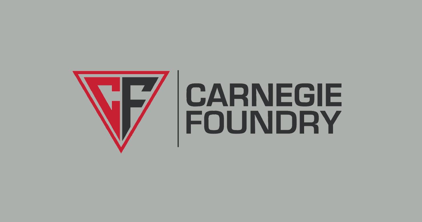 Carnegie Foundry logo on grey background
